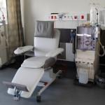 Liege Dialyse weiß - Applikation grau